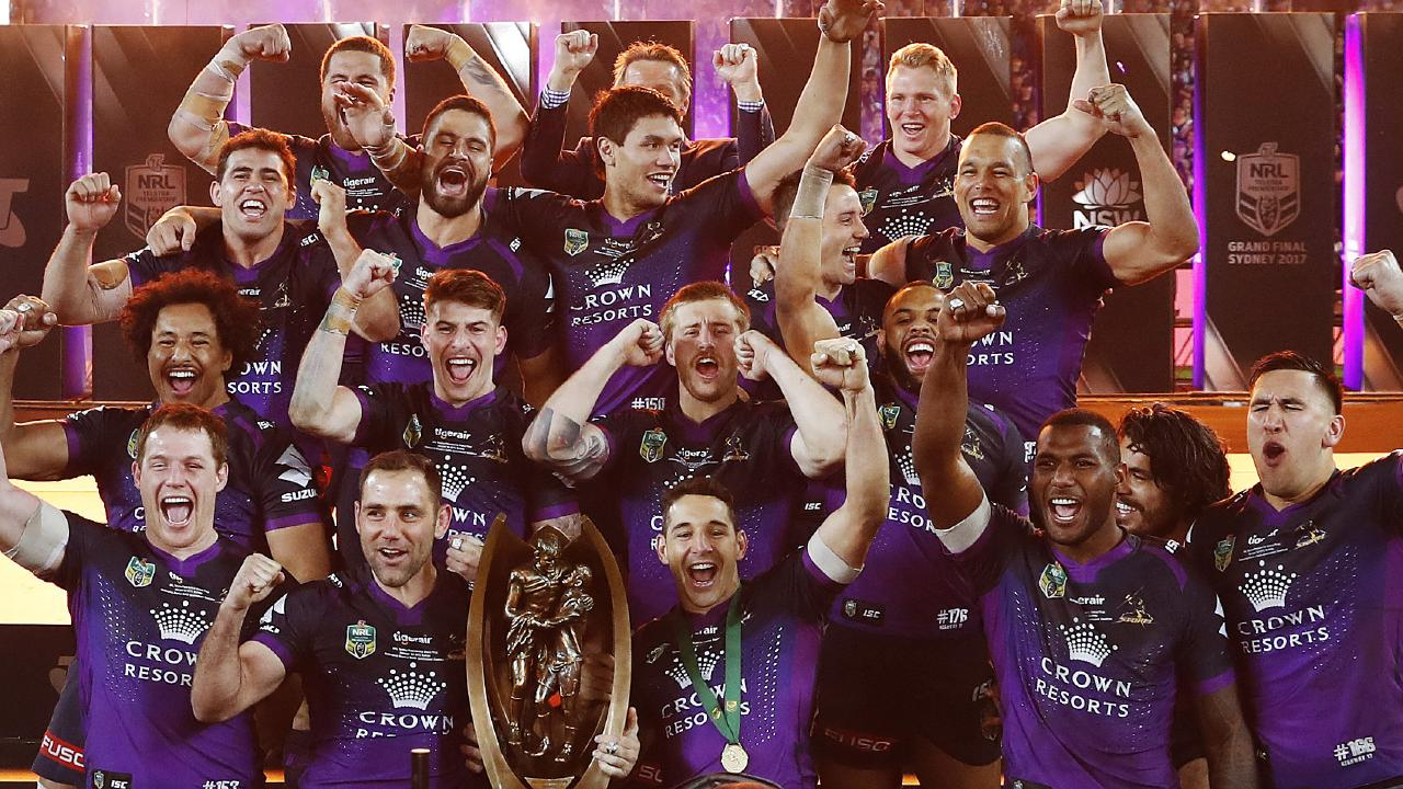 The Storm are aiming to be the first back-to-back premiers since the Broncos in 1993.