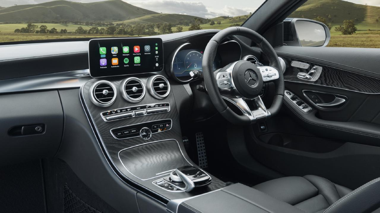 The updated C-Class misses out on the brand's new dual digital screen layout