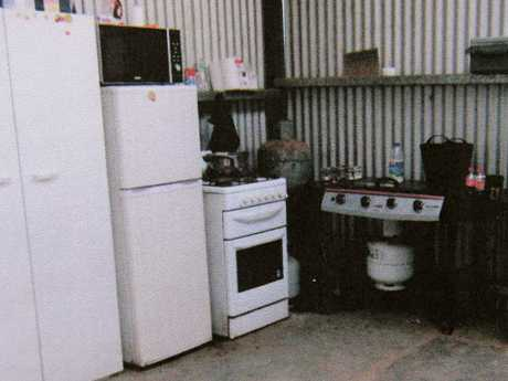 Kitchen at the Boorowa farm which was the Colts' last bolt hole before police blew open their family secret.