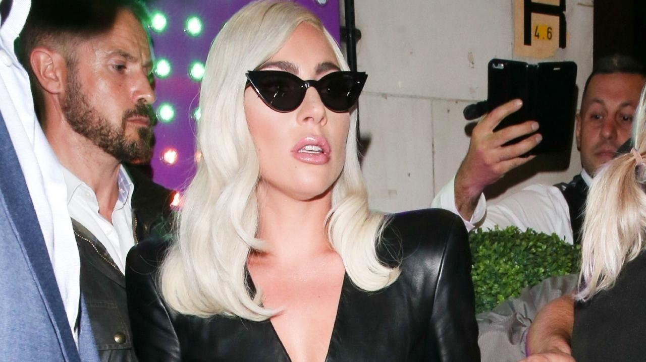 A wardrobe malfunction! Lady Gaga has had a big week in fashion. Picture: BACKGRID Australia