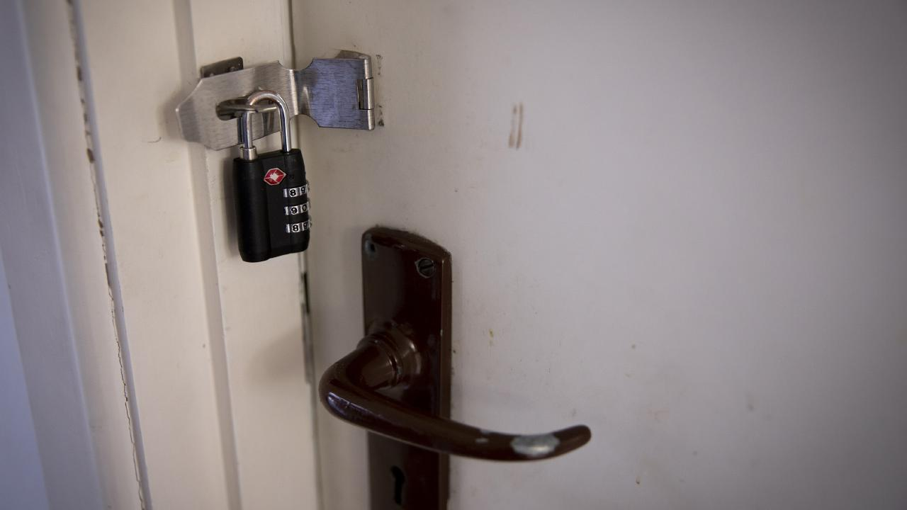 The tenant put padlocks on every bedroom door. Picture: Dean Purcell/NZ Herald