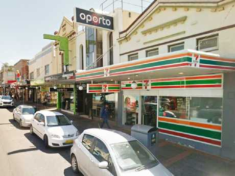 Leilani Clarke kneed the officer after being caught stealing a butter chicken curry from Marrickville 7-Eleven (above).