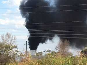 Exclusion zone established as smoke billows from mine