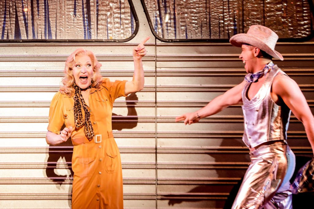 Tony Sheldon in a scene from Priscilla Queen of The Desert The Musical.