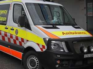 Motorcyclist taken to hospital after crash