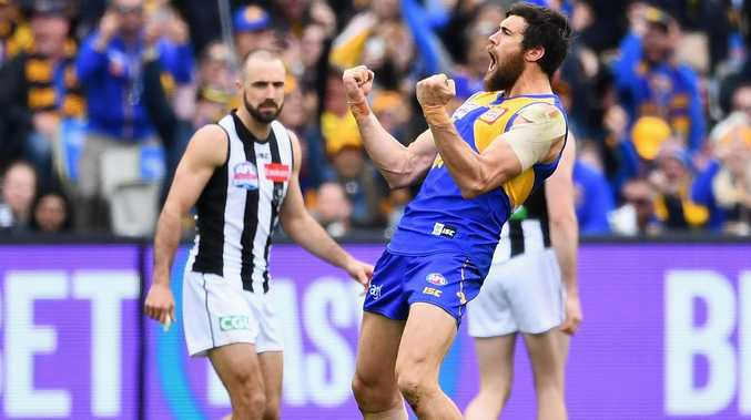 Josh Kennedy booted three goals and two behinds. Picture: Getty Images