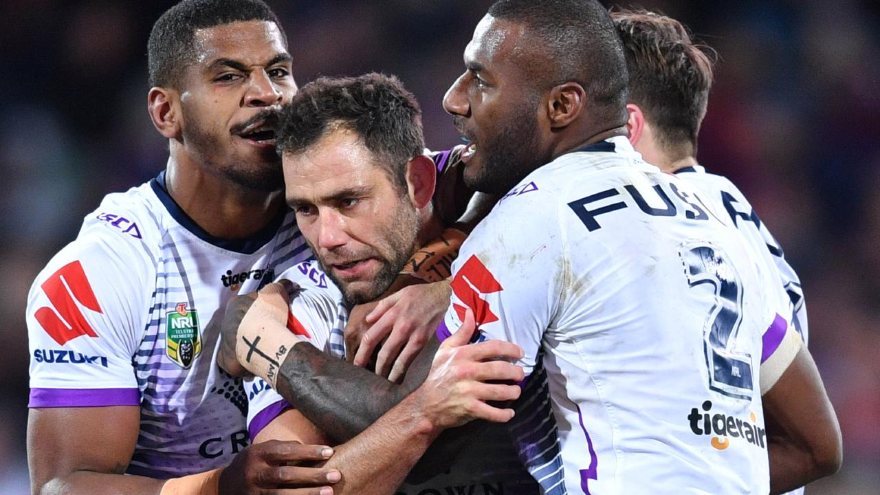 Cameron Smith was the Storm hero in the round 18 win over the Roosters.