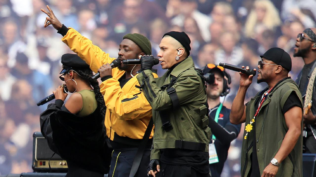 The Black Eyed Peas rock the MCG. Picture: Mark Stewart