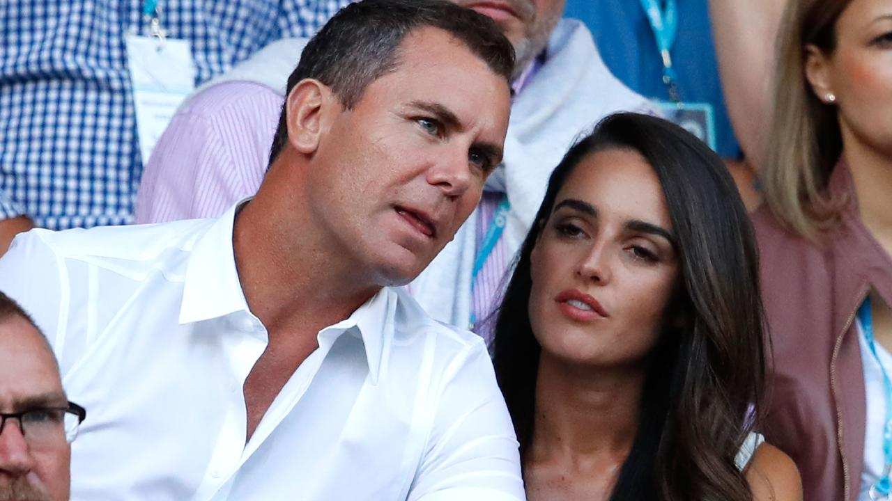 Wayne Carey and Jessica Paulke first stepped out together at the Australian Open in January.