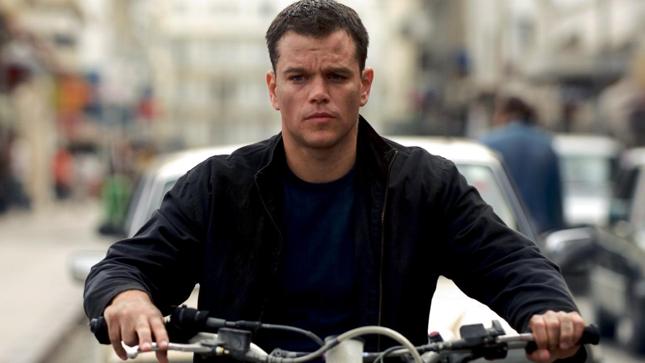 Matt Damon as Jason Bourne, one of his most famous film roles.