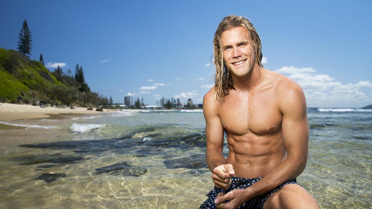 Ironman competitor and model Jett Kenny. Picture: Lachie Millard