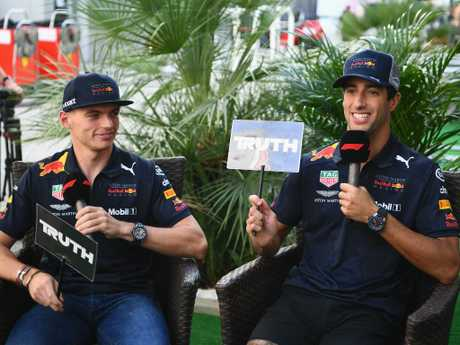 The Red Bull pair of Max Verstappen and Daniel Ricciardo will start at the back of Sunday's grid.
