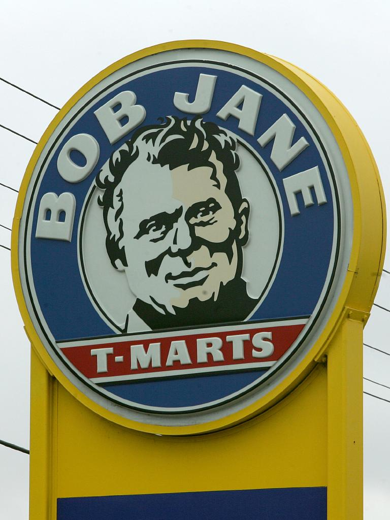 A sign outside one of Bob Jane's stores.