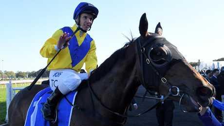 Jockey Tim Clark was impressed by Oohood's finishing burst. Picture: AAP