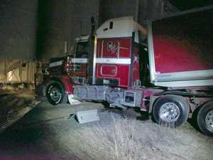 Runaway truck blocks railway line in Harristown