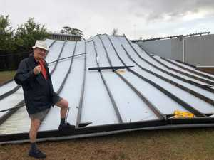 UPDATE: Roof torn off council building in massive storm