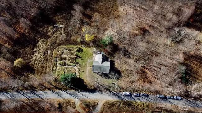 Aerial of the compound where Ben Shenton and the other children were fed drugs and raised as the master race of the future. Picture: 'The Family'