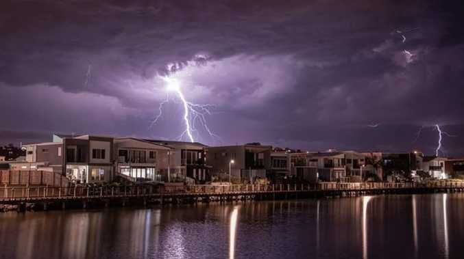 First storm of the season captured from Sunshine Cove, Maroochydore. Picture: Jade-Ellen Leak