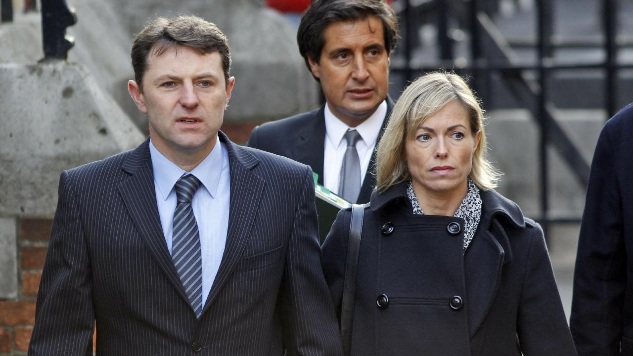 Gerry McCann, left, with his wife Kate McCann in 2011, has given a rare interview on UK radio about the disappearance of his daughter, Madeleine. Picture: AP Photo/Lefteris Pitarakis