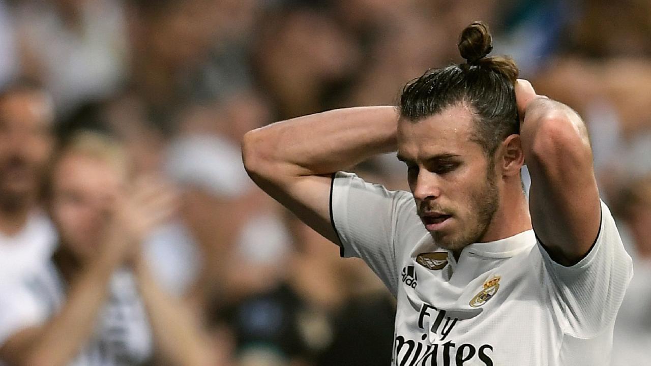Real Madrid's Gareth Bale was taken off injured.