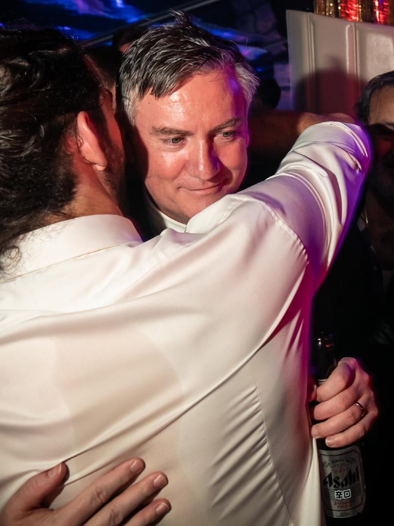 Eddie McGuire gets a hug.