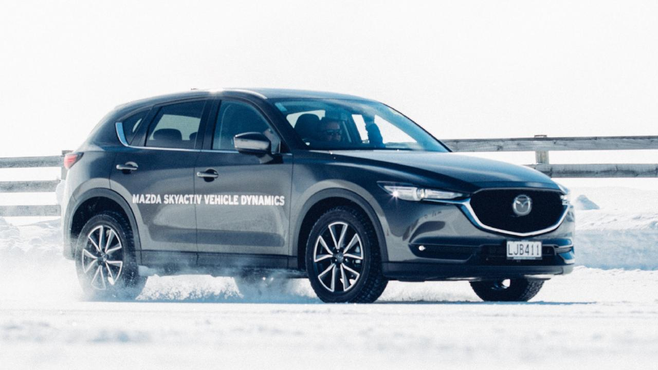 Mazda's CX-8 shines when the going gets slippery. Picture: Supplied.