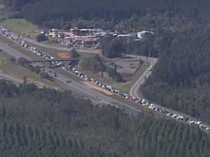 Bruce Hwy chaos as congestion more than doubles