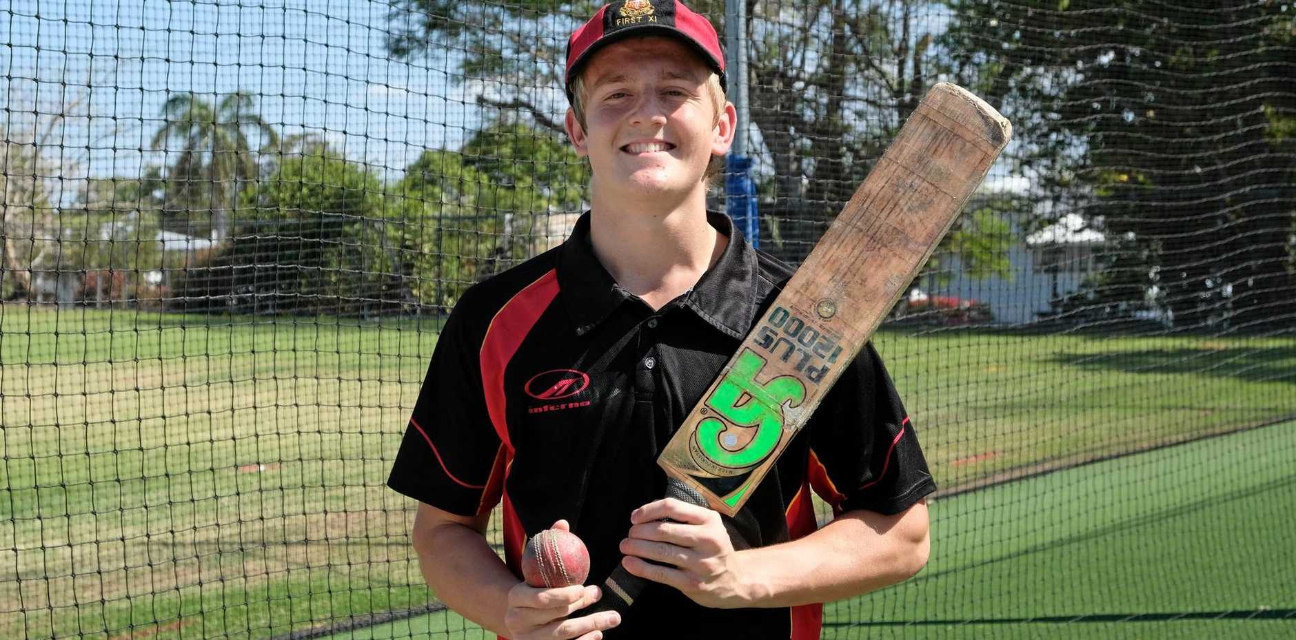 CRICKET STAR: Rockhampton all-rounder Leighton Milburn will make his Queensland debut at this week's national open schoolboys championships in Sydney.