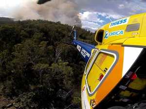 Wild fire traps bushwalkers in mountainous national park