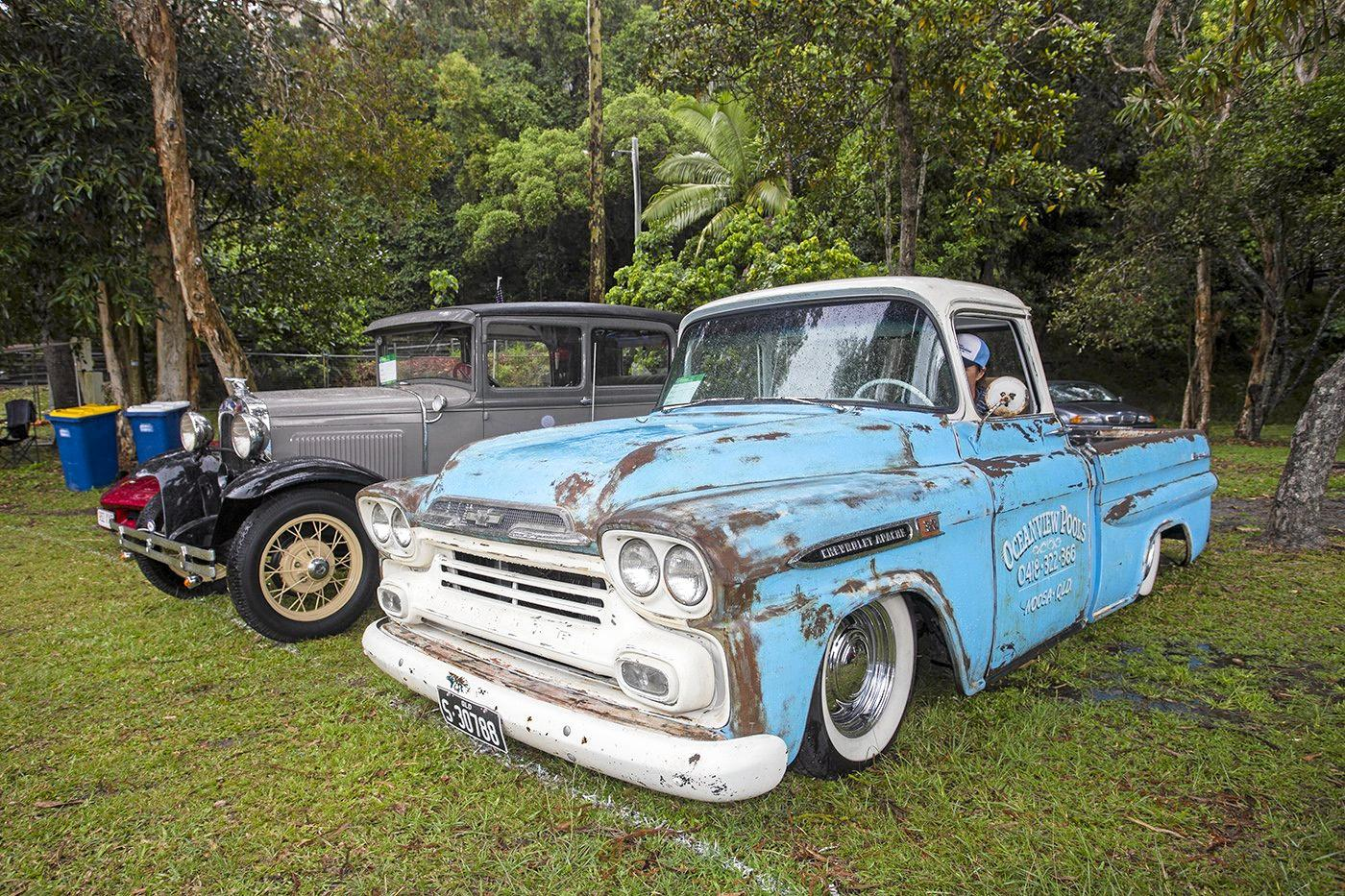 This 1959 Chevy Apache is Oceanview Pools Noosa's work vehicle.