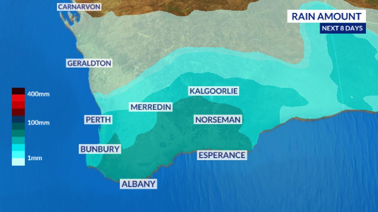 Southern Western Australia could see some heavy downpours.