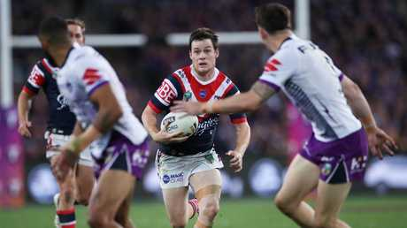 Luke Keary craved up the Storm defence. Picture: Phil Hillyard