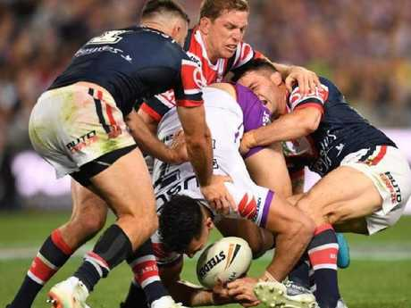 Whenever Cooper Cronk was forced to tackle, help wasn't far away.
