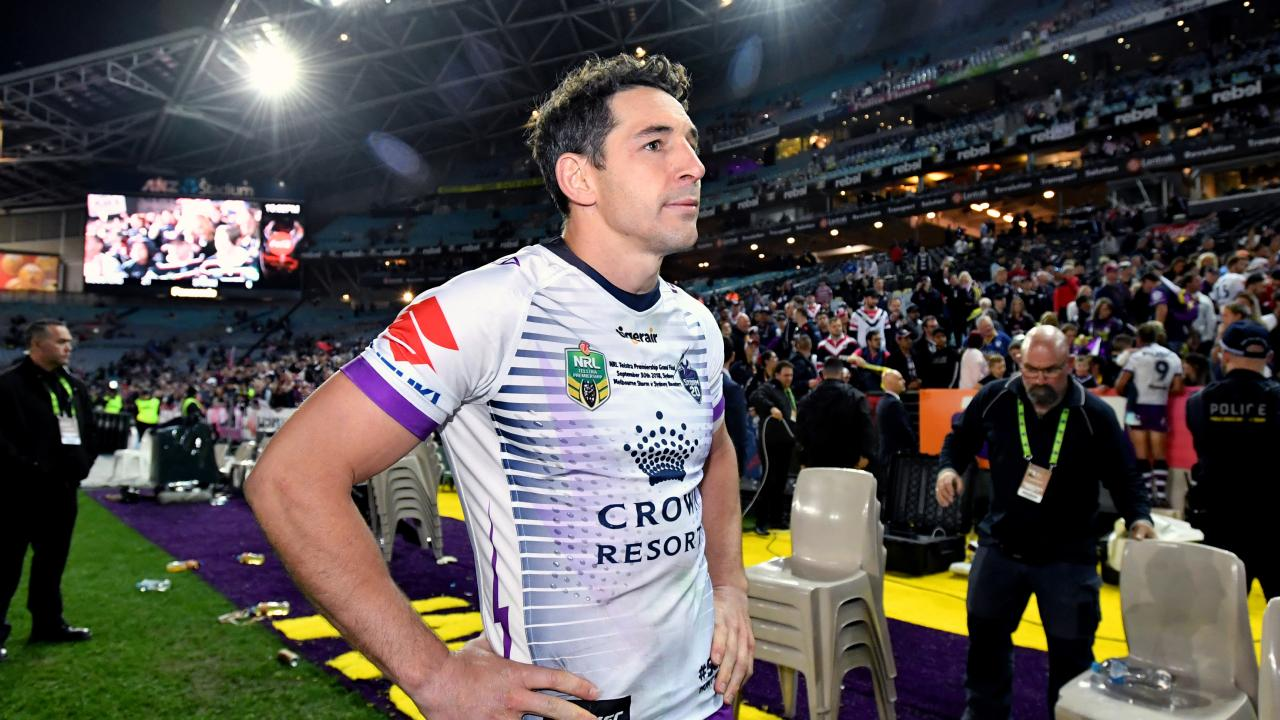 Billy Slater was booed by the crowd in his final game.
