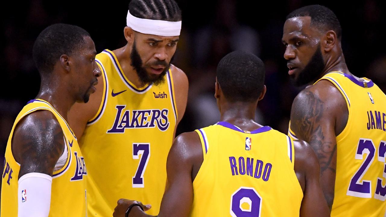 Kentavious Caldwell-Pope, JaVale McGee, Rajon Rondo and LeBron James talk tactics.
