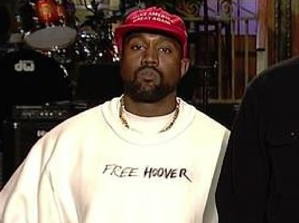 Kanye sported a MAGA cap on SNL.