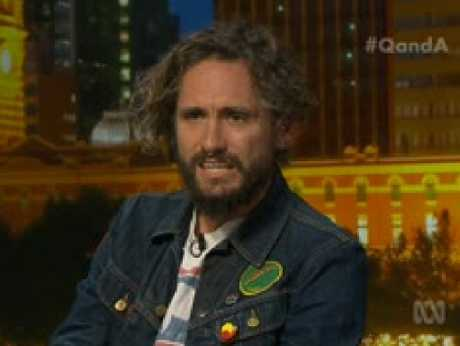 John Butler reacts to a story of college hazing and harassment from an audience member on Q&A.