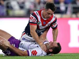 Cronk grabs Smith by the throat in GF tussle