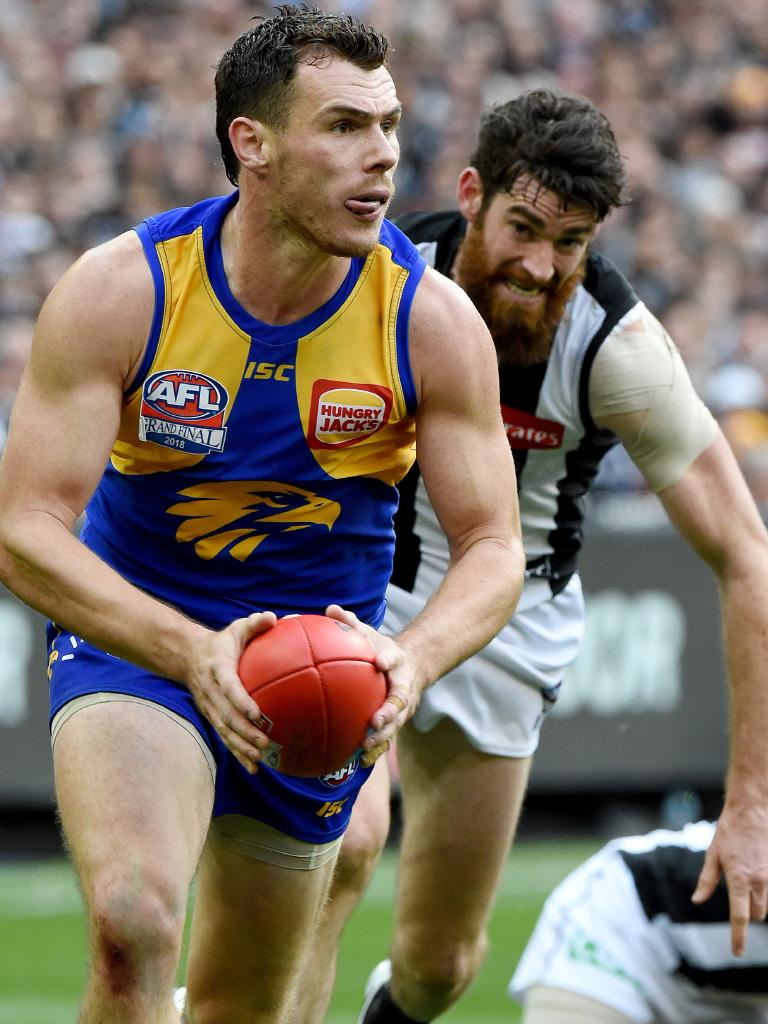 Shuey on his way to a Norm Smith Medal. Picture: Nicole Garmston