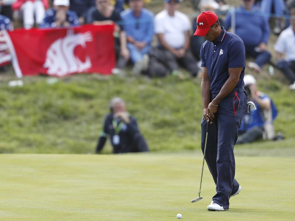 Things did not go to plan for Tiger Woods. Picture: AP