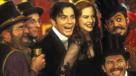 Nicole Kidman with Ewan McGregor in Moulin Rouge.