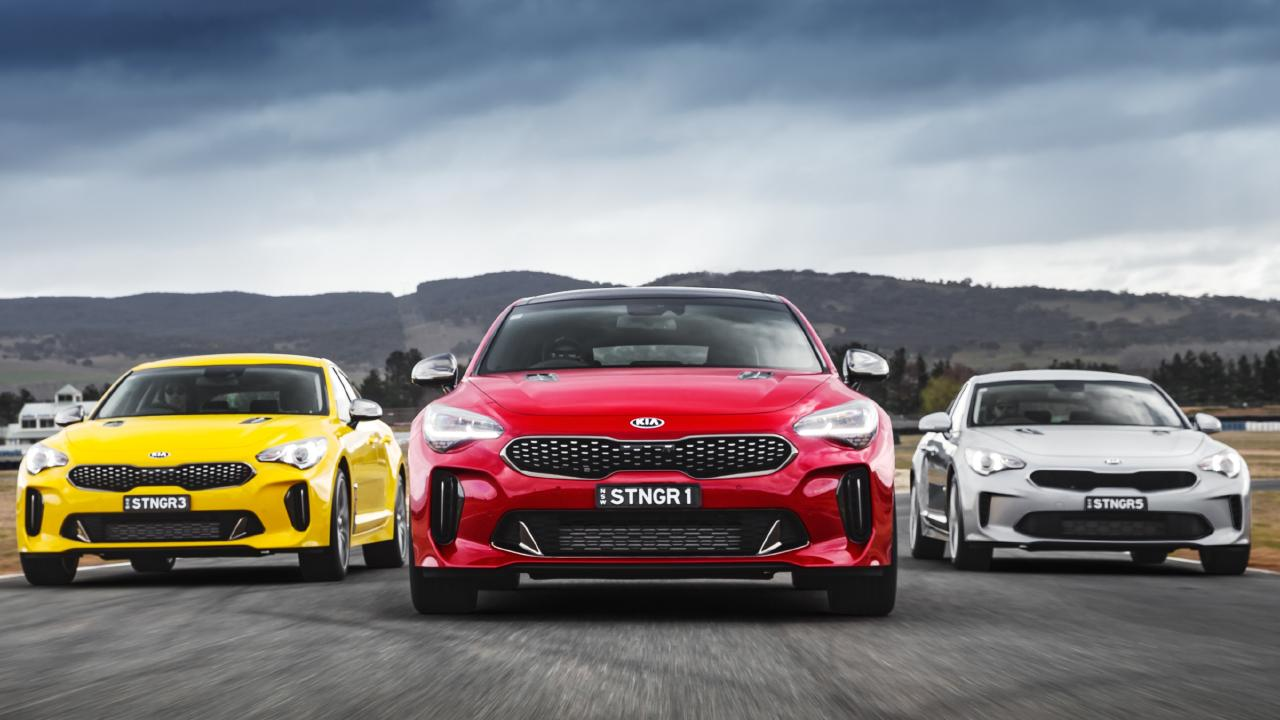Much of the hype around the Kia Stinger is about the twin turbo V6, but how does the turbo four-cylinder rate? Picture: Supplied.