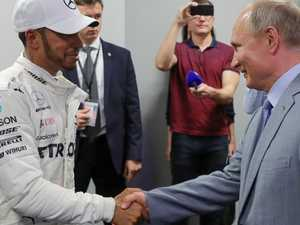 Putin's warning for Russian F1 winner