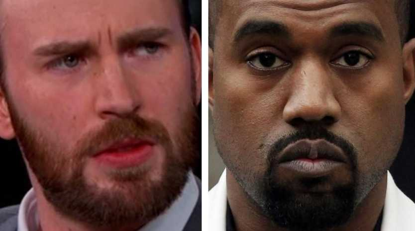 Chris Evans has slammed Kanye West over his recent stream of pro-Trump comments.