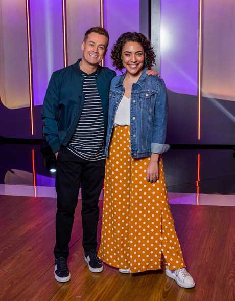 Grant Denyer and his Game of Games co-host Ash London.