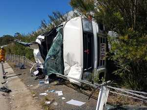 Woman injured in hwy roll-over