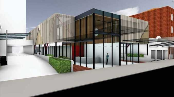 3D renderings of what the proposed new building at 131 Margaret St will look like.