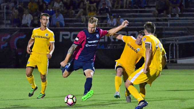 Maroochydore junior Josh Phelps ready to strike for Tormenta FC. He has just signed his first professional contract.