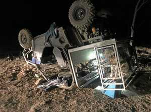 Man flown to hospital after buggy rollover near Warwick