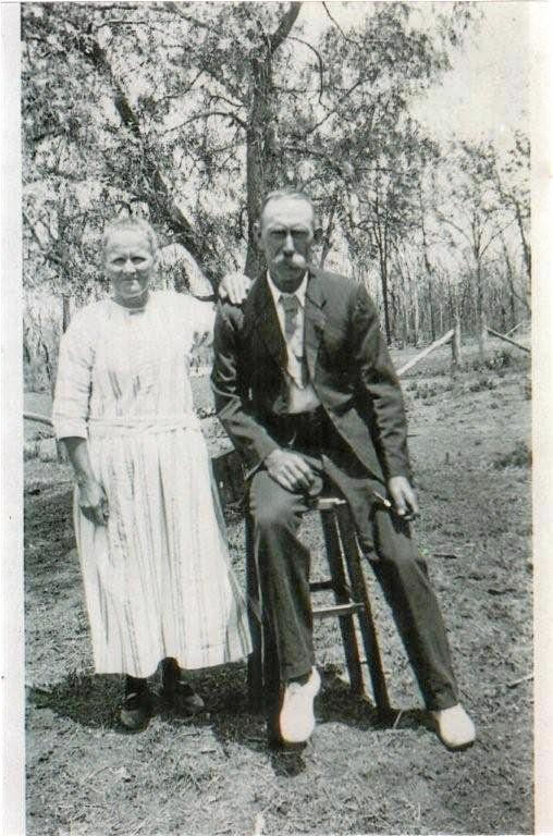 WONDER WOMAN: Josephina Pugh with her husband William.